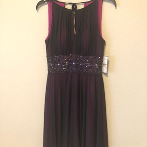 NWT Purple Jessica Howard Missy dress